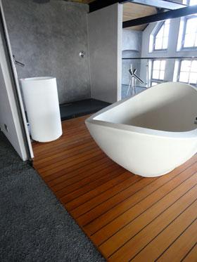 Uw badkamer waterdicht gestuct in betonlook venetiaanse look of andere stuctechnieken - Waterafstotend badkamer ...