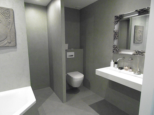 Luxe Badkamers Eindhoven ~   look en modern look; stuc stijlen van Nategmo voor vloer en wanden